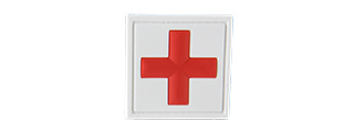 CROSS MEDIC PATCH PVC MORALE PATCH (WHITE/RED)