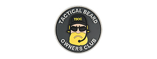 G-FORCE TACTICAL BEARD OWNERS CLUB PVC MORALE PATCH (BLACK/YELLOW)