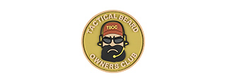 G-FORCE TACTICAL BEARD OWNERS CLUB PVC MORALE PATCH (TAN)