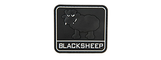 BIG BLACK SHEEP PVC MORALE PATCH (BLACK)