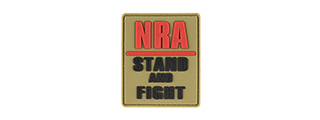 G-FORCE NRA STAND AND FIGHT PVC MORALE PATCH (TAN)