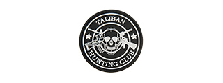 G-FORCE TALIBAN HUNTING CLUB PVC MORALE PATCH (BLACK)
