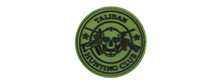 NEW TALIBAN HUNTING CLUB PVC MORALE PATCH (OD GREEN)