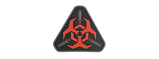 G-FORCE RESIDENT EVIL BIOHAZARD PVC MORALE PATCH (RED)