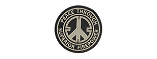 G-FORCE PEACE THROUGH SUPERIOR FIREPOWER PVC MORALE PATCH