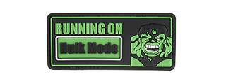 "G-FORCE RUNNING ON ""HULK MODE"" PVC MORALE PATCH"