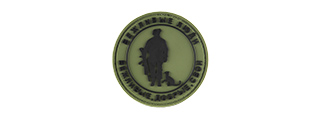 G-FORCE POLITE PEOPLE ROUND PVC MORALE PATCH (OD GREEN)