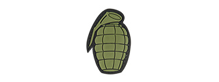 G-FORCE GRENADE PVC MORALE PATCH (OD GREEN)