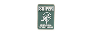 G-FORCE NO RUNNING SNIPER PATCH PVC MORALE PATCH