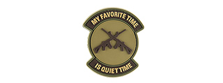 G-FORCE MY FAVORITE TIME IS QUIET TIME PVC MORALE PATCH (TAN)