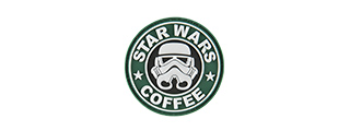 G-FORCE STARWARS COFFEE TROOPER PVC MORALE PATCH (GREEN)