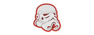 G-FORCE STAR WARS STORMTROOPER HELMET PVC MORALE PATCH (RED)