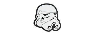 G-FORCE STAR WARS STORMTROOPER HELMET PVC PATCH (BLACK)