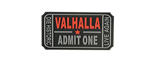 G-FORCE VALHALLA TICKET PVC MORALE PATCH (BLACK)