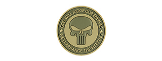 G-FORCE PUNISHER ENEMIES PVC MORALE PATCH (OD GREEN)