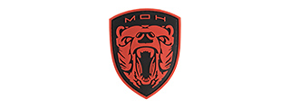G-FORCE MOH GRIZZLY PVC MORALE PATCH (RED)