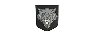 G-FORCE SHIELD GRAY WOLF PVC PATCH (GRAY)