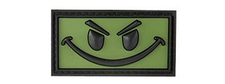 BIG EVIL SMILEY PVC MORALE PATCH (OD GREEN)