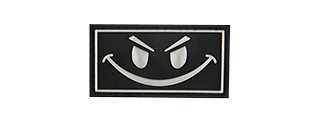 G-FORCE DARK EVIL SMILE PVC MORALE PATCH (BLACK)