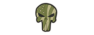 G-FORCE PUNISHER FLAG (GREEN WAVING US FLAG PUNISHER PVC MORALE PATCH)