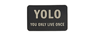 G-FORCE YOLO YOU ONLY LIVE ONCE PVC MORALE PATCH (BLACK)