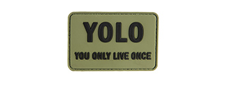 G-FORCE YOU ONLY LIVE ONCE PVC PATCH PVC MORALE PATCH (OD GREEN)