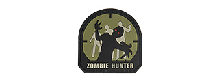G-FORCE ZOMBIE HUNTER PVC MORALE PATCH - SMALL (OD GREEN)