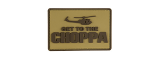G-FORCE GET TO THE CHOPPA PATCH PVC MORALE PATCH (TAN)