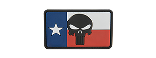 G-FORCE THE TEXAN PUNISHER PVC PATCH (RED/WHITE/BLUE)