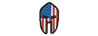 G-FORCE AMERICAN SPARTAN PVC PATCH (RED/WHITE/BLUE)