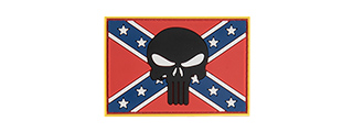 "G-FORCE CONFEDERATE ""REBEL"" BATTLE FLAG AND SKULL PVC MORALE PATCH"