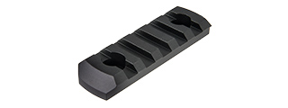 RANGER ARMORY 5-SLOT ALUMINUM PICATINNY RAIL SECTION FOR M-LOK (BLACK)