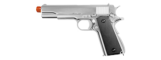 WE Tech M1911 Hi-Capa Airsoft GBB Gas Blowback Pistol (SILVER)