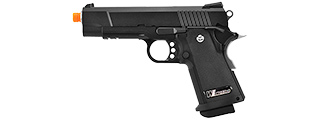 WE-Tech Full Metal Hi-Capa 4.3 Compact Gas Blowback Airsoft Pistol (BLACK)
