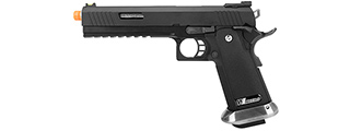 WE Tech 1911 Hi-Capa T-Rex Competition Gas Blowback Airsoft Pistol w/ Sight Mount (BLACK / SILVER)
