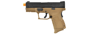 WE-Tech DM 3.8 Compact Gas Blowback Airsoft Pistol w/ 2X Mags (TAN)