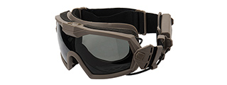G-Force Full Seal Airsoft Goggles w/ Built-In Fan [Clear Lens] (TAN)