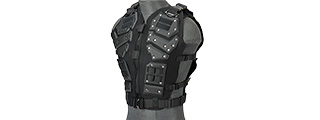 Tactical Airsoft Vest Body Armory w/ Padded Chest Protector (BLACK)
