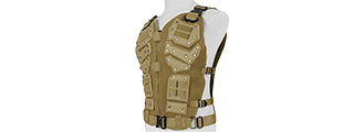 Tactical Airsoft Vest Body Armory w/ Padded Chest Protector (TAN)