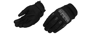 Lancer Tactical Kevlar Airsoft Tactical Hard Knuckle Gloves [MED] (BLACK)