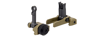 Metal Micro Front and Rear Iron Sights (DARK EARTH)