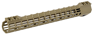 "15"" M-LOK Ultralight Rail System for M4 / M16 Airsoft AEG Rifles (MATTE TAN)"
