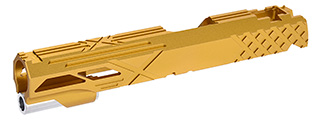 "Airsoft Masterpiece Custom ""X"" Standard Slide for Hi-Capa/1911 5.1 (GOLD)"