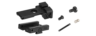 Army Armament Rear Iron Sight for 1911 Airsoft Pistols (BLACK)