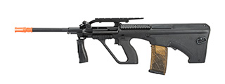 Army Armament Polymer AUG Civilian AEG Airsoft Rifle w/ Top Rail (BLACK)