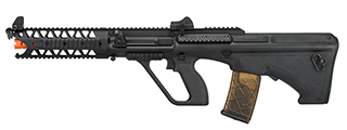 "Army Armament AUG 9"" Raptor Polymer AEG Airsoft Rifle (BLACK)"