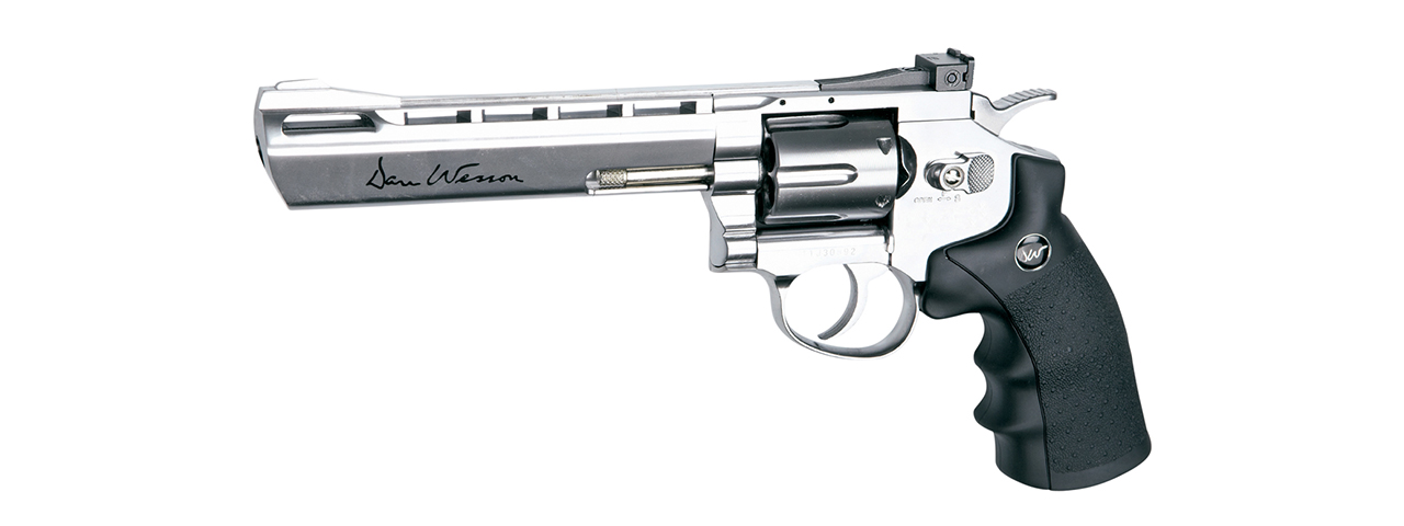 "ASG Licensed Dan Wesson 6"" CO2 .177 Air Revolver Airgun (SILVER)"