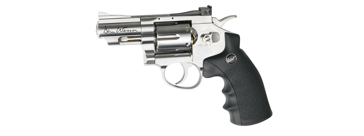 "ASG Licensed Dan Wesson 2.5"" CO2 .177 Air Revolver Airgun (SILVER)"