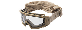 Lancer Tactical Rage Protective Tan Airsoft Goggles (CLEAR LENS)