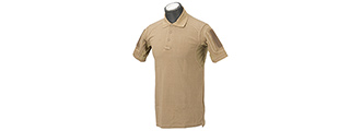 Lancer Tactical Polyester Fabric Polo Shirt [X-Small] (TAN)